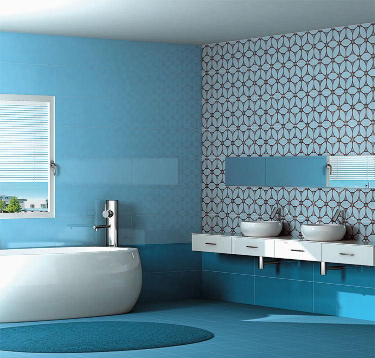 Piastrelle azzurre bagno oy79 regardsdefemmes for Piastrelle per bagno