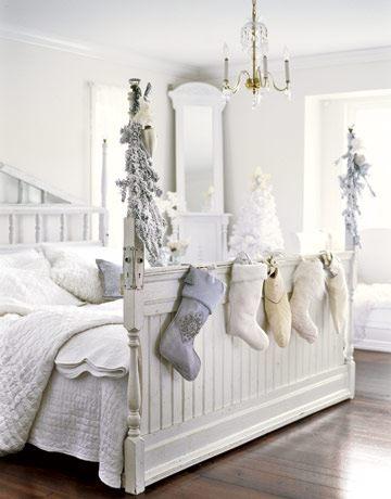 natale decorazioni camera da letto bianco[4] - VogliaCasa