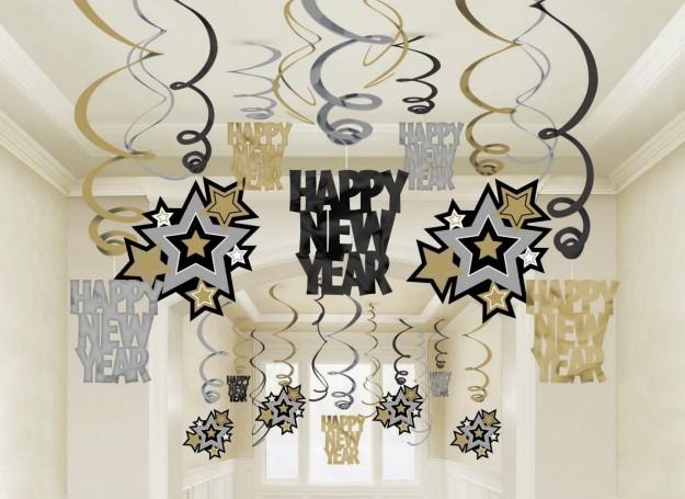 Decorazioni Sala Capodanno : Capodanno decorazioni in bianco e nero vogliacasa
