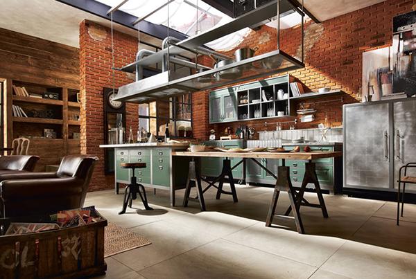 Cucina-in-stile-industriale-vintage - VogliaCasa