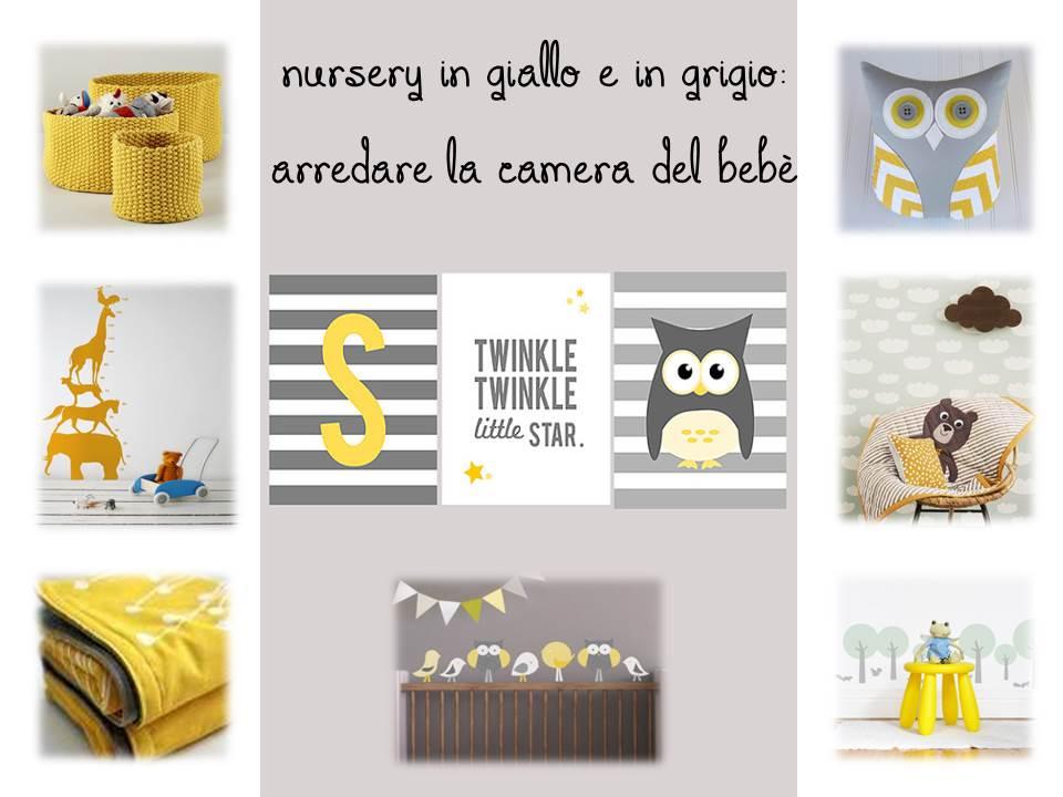 Nursery in giallo e in grigio