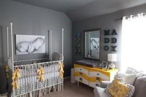 Photograph-Baby-Room-Home-Decor-Grey-and-Yellow-Baby-Nursery-Room-Inspiration