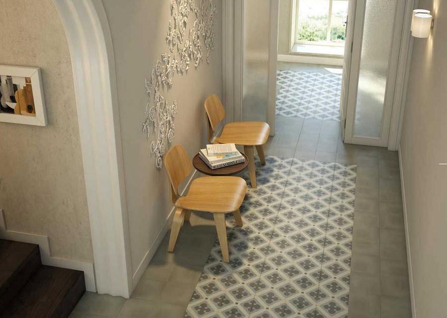 Cementine quadrate disegni a mosaico vogliacasa - Carrelage entree ...