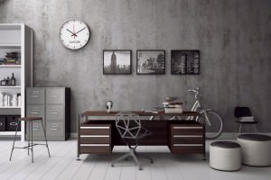 grey-color-scheme-and-old-style-masculine-home-office