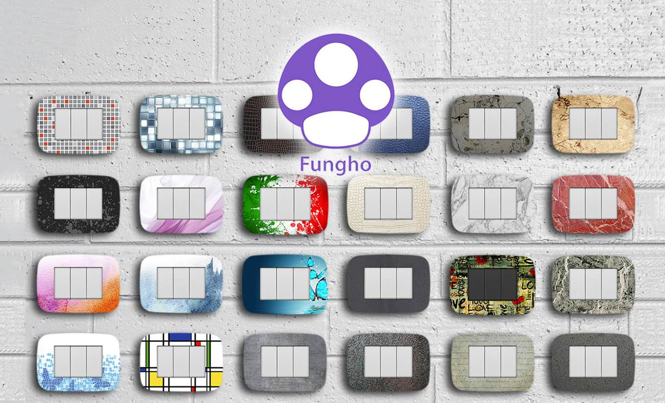 Fungho placche e interruttori personalizzati for Placche interruttori