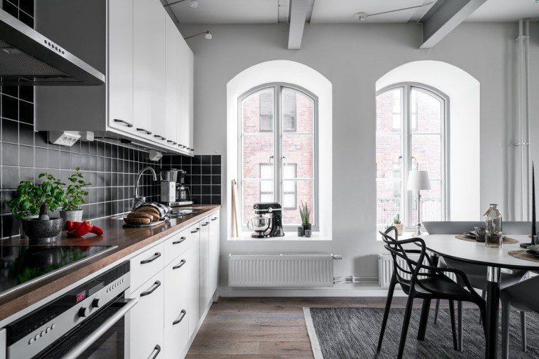 Stile industriale per un appartamento svedese vogliacasa for Appartamento design industriale