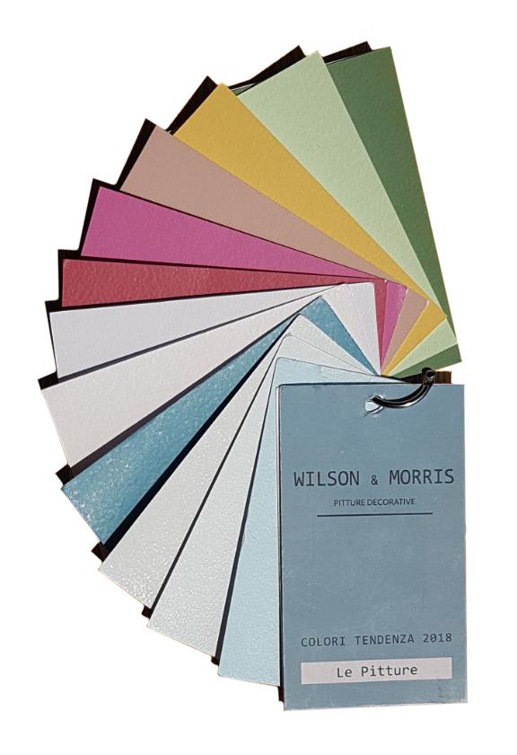 I 12 nuovi colori tendenza 2018 WILSON & MORRIS