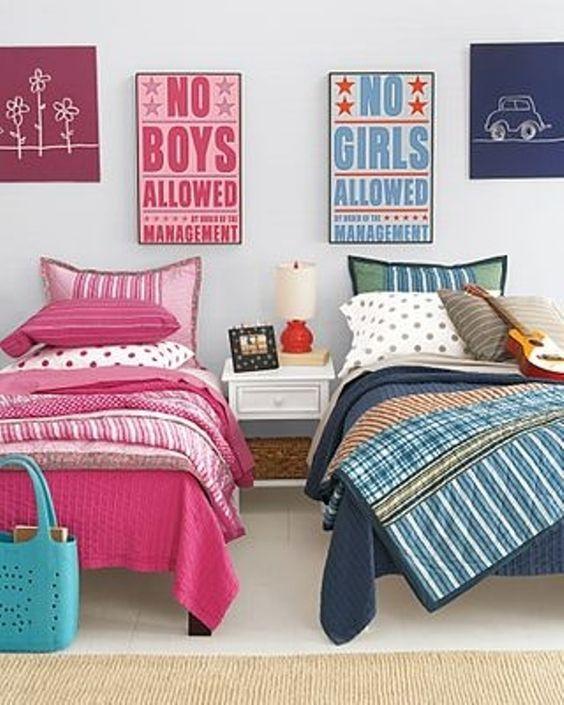 BOYS vs GIRLS: una camera da letto per due!