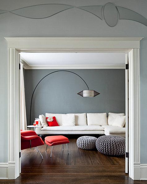 Ambienti in bianco e rosso: stile e design!